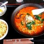 王居 - 担々麺+半チャーハン定食