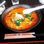 王居 - 担々麺定食(?)(半チャーハンがまだです)