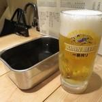 33625589 - 生ビールとソース