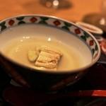 ごだん 宮ざわ - 煮穴子とゴボウの玉〆 穴子がすこし甘くたいてありますね葛餡が優しいです。