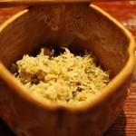 ごだん 宮ざわ - ★4.5 白味噌の豆味噌で炊いたおじゃこ