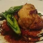 ガッリレオ - 鶏肉に菜の花の苦みが凄くあう。