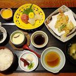 東乃 - 料理写真:東乃膳 1250円(8%込…ランチ時は1150円になります) いつものようにご飯少な目でオーダーしています