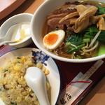 33630023 - ランチのB豚ばら肉醤油煮タン麺・チャーハンセット(950円)2014年12月