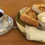 33635117 - シナモントーストのコーヒーセット