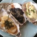 日本料理 田や - 牡蠣焼き3種