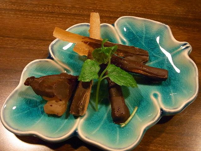 福田バー - オレンジピールチョコ&生姜チョコ¥600 リキュールの風味がGOOD☆♪
