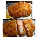 33641306 - 中田さんちの美味しい豚「厚切りロースかつ膳(2000円:外税)・・230gの黒豚です。