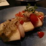 森の湯 - 洋菜:帆立貝柱と林檎のハーブドレッシング チャービル