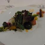 オトワ レストラン - 2014.12)オマール海老と20種類以上の地元産野菜を使ったサラダ