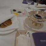 オトワ レストラン - 2014.12)キャビアの付け合わせがおいしかった