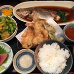わか月 - 煮魚ランチ(コーヒー付、御飯お替り可)  ¥1,000-