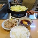 さぶろうべい - ●ランチ とり白菜セット(990円)(とり白菜、とり皮、ご飯)