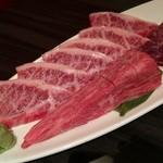 Yakinikushibaura - えんぴつ1800円税別〜、リブロース1400円税別