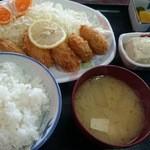 味処 東 - カキフライ定食