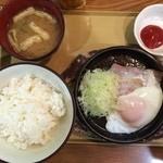 ひの家 - ベーコンエッグ朝食200円全景