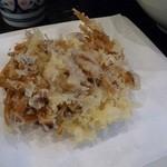 麺一滴 - かきの木茸の天ぷら