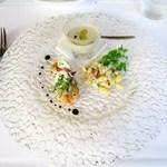 ristorante della collina - 自家製前菜  マッシュルームのパンナコッタ  インゲン豆のサラダ  魚介のマリネ