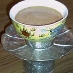 33654942 - チベタンティー(バター茶)蓋を取ったところ