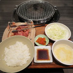 醍醐 - カルビ定食(肉大盛)
