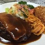 レストラン 幹 - ハンバーグと蟹クリームコロッケ