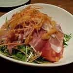33655389 - 生ハムと水菜のサラダ