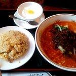 toukamura - 担々麺+半チャーハン定食