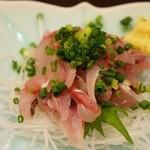 季節料理くら井 - 真アジたたき480円 本当に新鮮。恐るべし。。。!