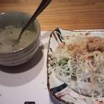 33659215 - ランチセットのサラダとスープ