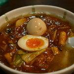 開花屋楽麺荘 松阪本店 - 野武士ラーメン850円 煮玉子はクーポンで無料トッピング