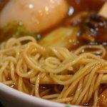 開花屋楽麺荘 松阪本店 - 野武士ラーメン850円 麺は細めんストレート