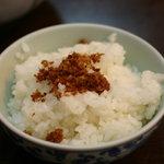 開花屋楽麺荘 松阪本店 - ランチタイムお替り自由の自家製オカカご飯 美味しい♪
