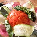 33660615 - お野菜たっぷりトマトつけ麺 990円 のつけ麺