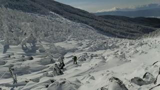 高見石小屋 - 2014,12月  賽の河原  友人と相方