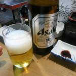 立ち寿司 まぐろ一徹 - 瓶ビールで乾杯!