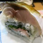 立ち寿司 まぐろ一徹 - 鯖寿司アップ!