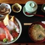 築地日本海 西川口店 - 煮魚・茶碗蒸し・デザート