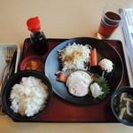ジョイフル - 料理写真:七種の和朝食(ご飯・味噌汁・漬物付)¥490(税込¥530)