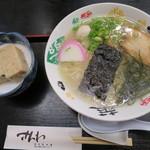 さんわ - 伯方の塩ラーメン580円 いぎす豆腐300円