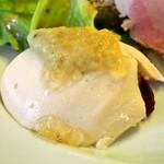 ビストロ デ シュナパン - Menu B(本日の前菜盛り合わせ:生雲丹のムース 茄子とコンソメのジュレ)