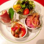トラットリア マルタ - シェフのオススメコース(前菜4種盛り)@3,300