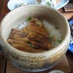 カエデナ - 煮穴子の炙りの土鍋ご飯