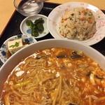 金麟 - ランチのサンラータンメン定食(750円)2014年12月