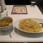 chinese dining KIICHI - KIICHIセット(にんにく炒飯+ミニ担々麺)
