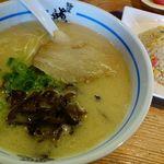 麺屋 あおい - ラーメンセット 1