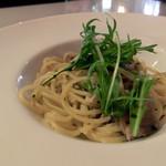菜園ブッフェ ダブラ - 蓮根と豚肉のペペロンチーノ