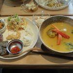 ビボリンゴ - 料理写真:本日のスープセット 1000円