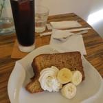 CAFE K - 妻はバナナシフォンケーキと。こちらもセットで700円。