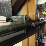 33687431 - 店内には鉄道模型が!
