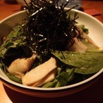 ぼたん屋 - 青菜とエリンギ,ノリたっぷりのサラダ